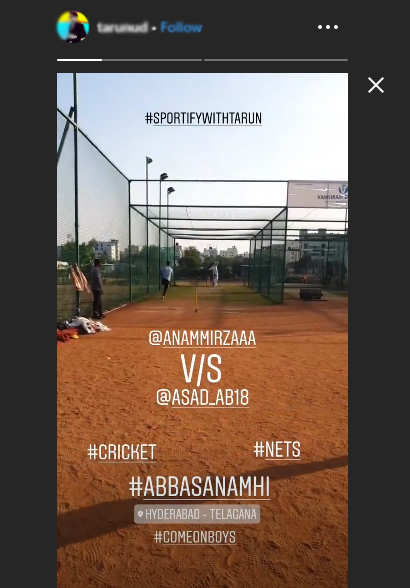 It was Anam Vs Asad during a game of cricket.