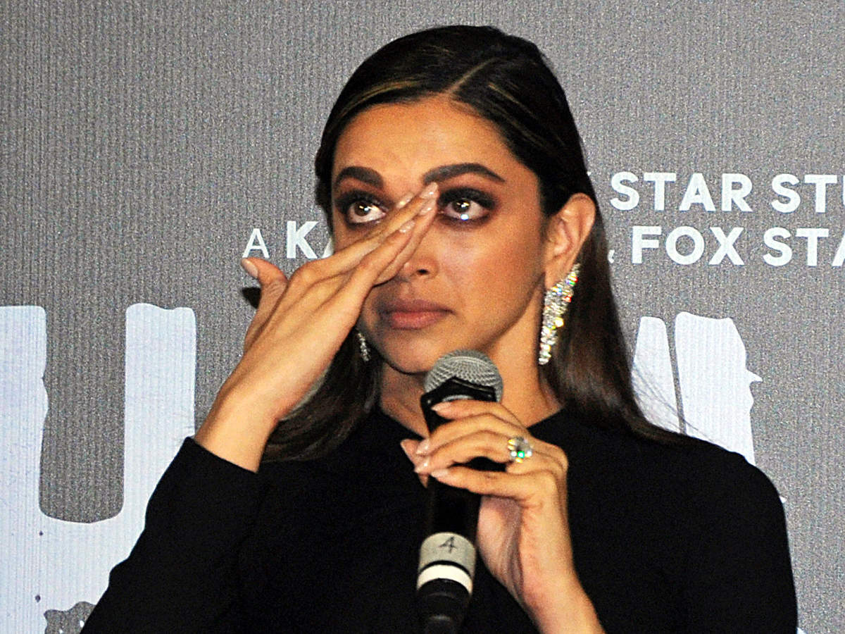 Bollywood actress Deepika Padukone gets emotional during the trailer launch of her upcoming film 'Chhapaak' in Mumbai on Tuesday.