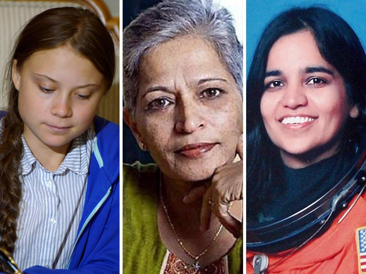 In the segment, U2 honoured Kalpana Chawla, Karuna Nandy, Lankesh and Rana Ayyub among others. U2 also acknowledged the contribution of Greta Thunberg. (In pic from left: Greta Thunberg, Gauri Lankesh, Kalpana Chawla)