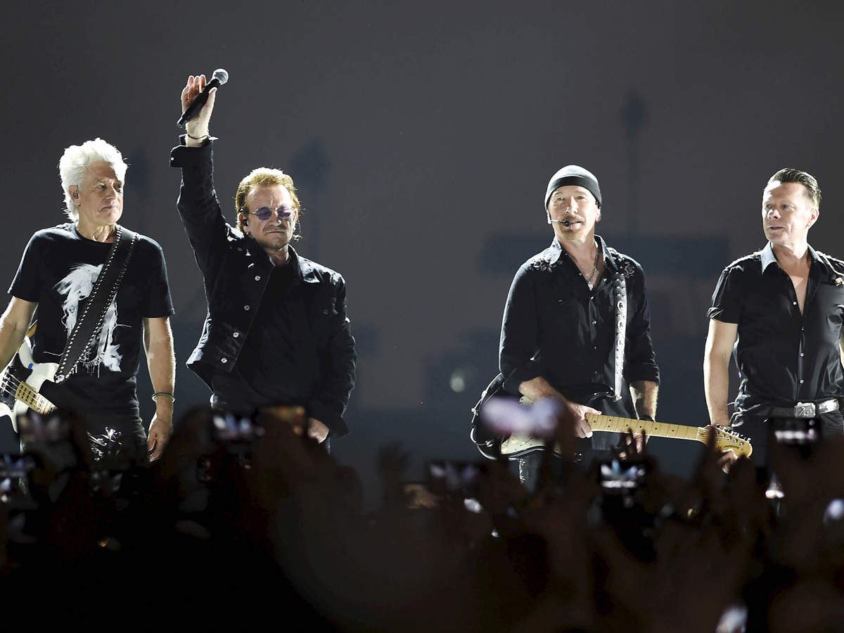 Frontman Bono, guitarist The Edge, drummer Larry Mullen and bassist Adam Clayton opened the concert with their classic 'Sunday Bloody Sunday' and ended with a visual montage of women icons across the world, including India.