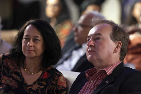 The British High Commissioner to India, Jeremy Pilmore Bedford, with wife Amanda at the Svasa Heritage Series