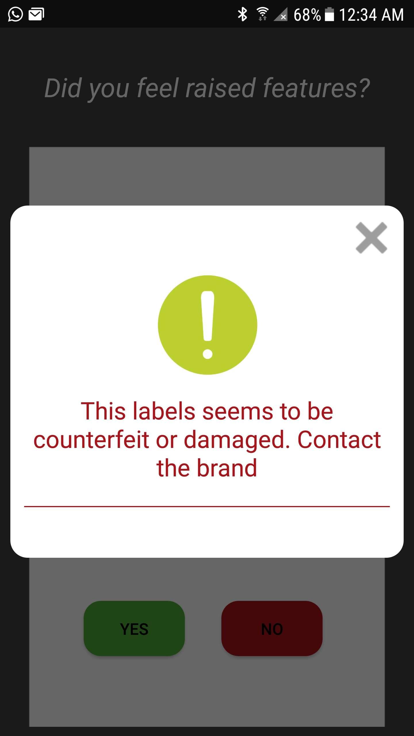 Checko Fake goods identification