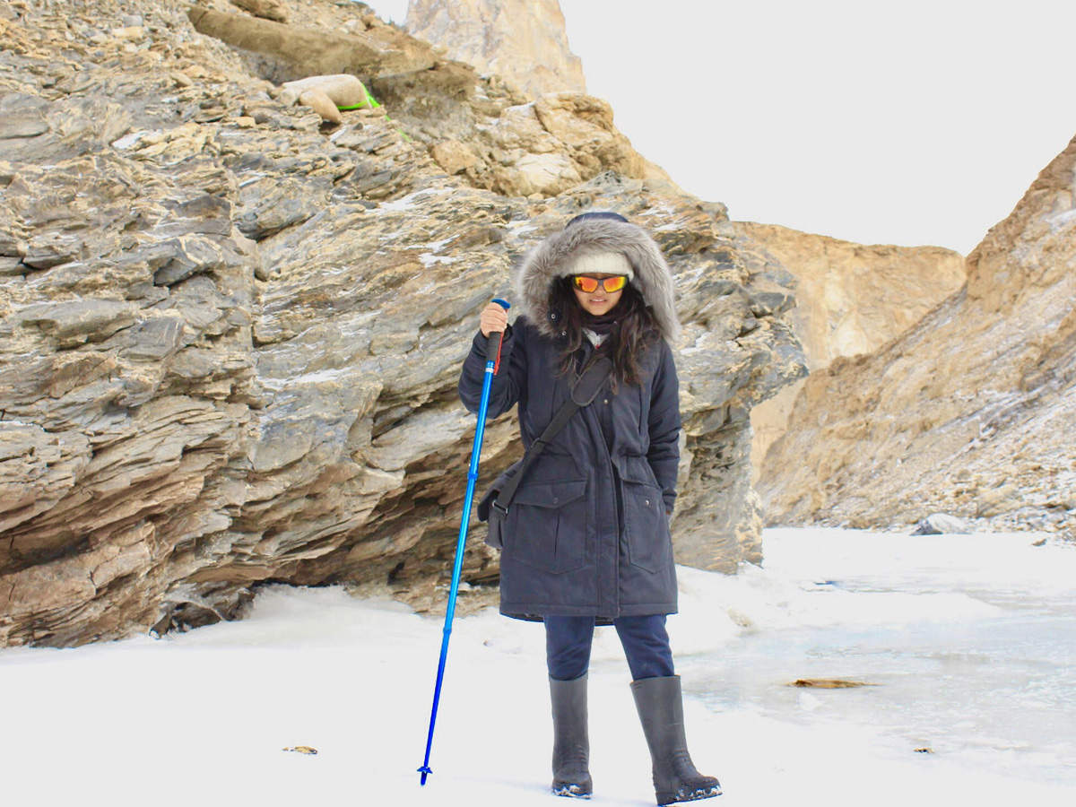 In the pursuit of spotting the elusive snow leopards, Banka and her fellow travellers started a day's hike from the entrance of Hemis National Park to reach Rumbak Valley.
