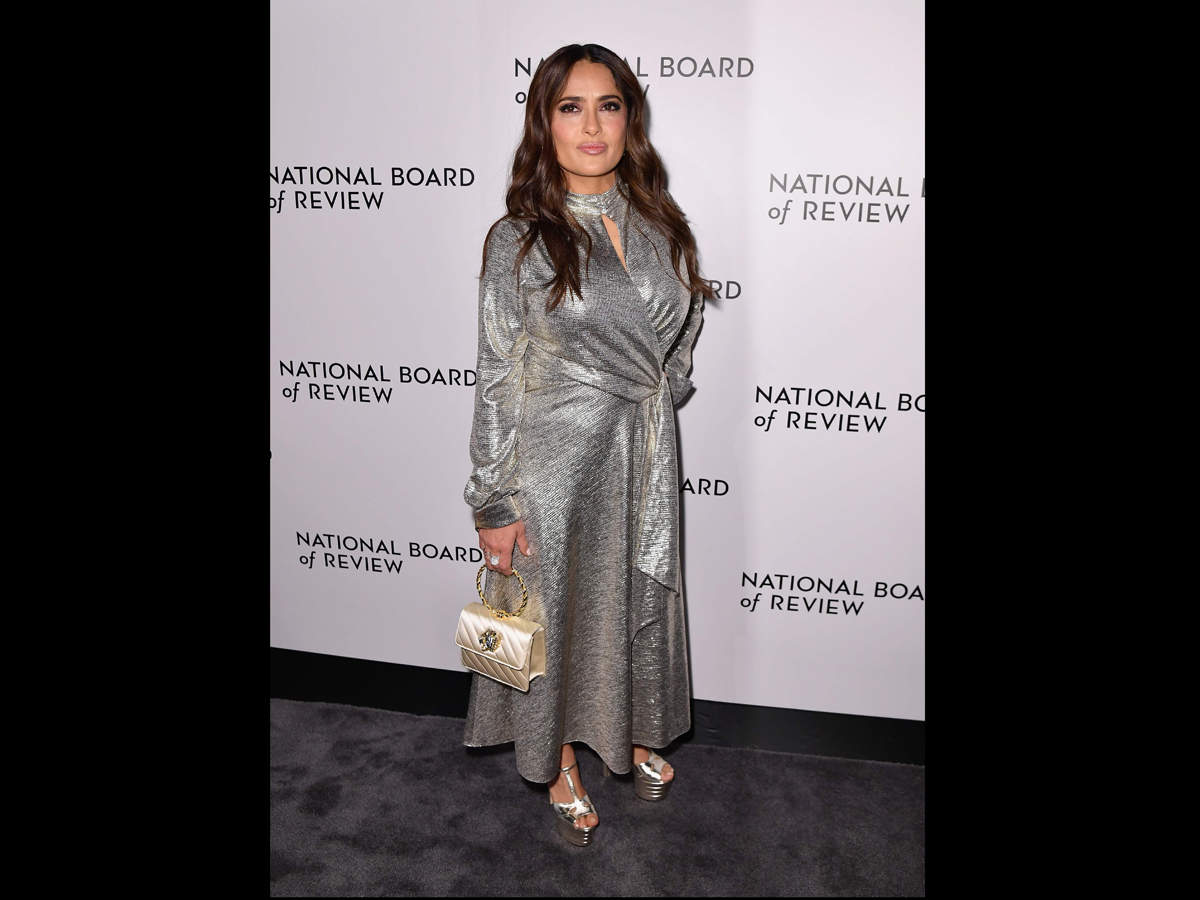 Mexican actress Salma Hayek attends the 2020 National Board Of Review Gala on January 8, 2020 in New York City.