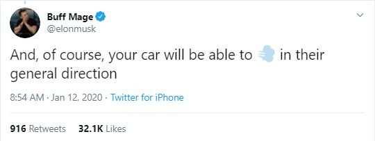 Screengrab of Elon Musk's tweet.