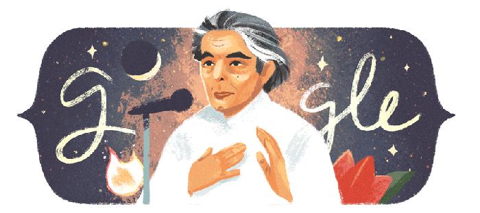 Kaifi Azmi's doodle by Google on his 101st birth anniversary.