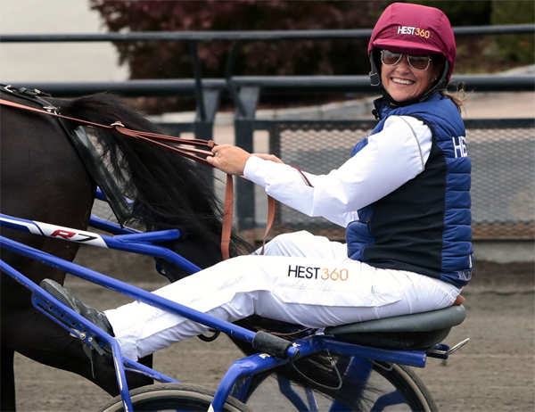 2018 file photo: Norway's Princess Martha Louise during her exam race to become a licensed trotting driver, in Oslo. She passed her exam.