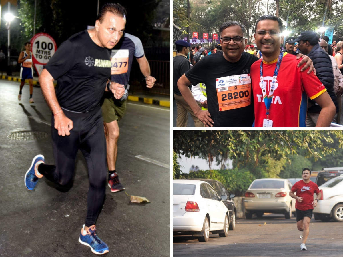 From (L-R, clockwise): Despite the optimism and a heavy turnout from corporate bigwigs like Anil Ambani, Tata Sons Chairman N Chandrasekaran, TCS CEO Rajesh Gopinathan and Indiabulls Housing Finance MD Gagan Banga at the running event, these sudden health casualties left a bitter taste in the mouth.