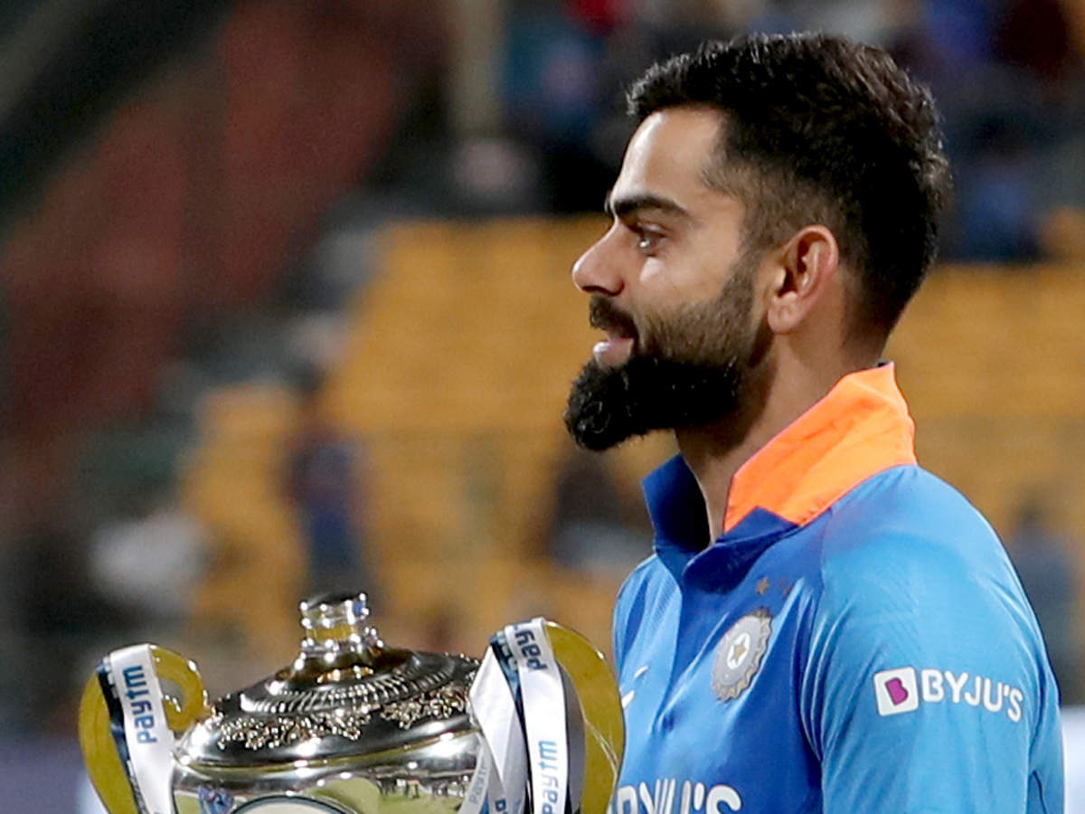 "At a recent event in Mumbai, Kohli was asked if ""sporty"" and ""emotional"" are two words that best described him."