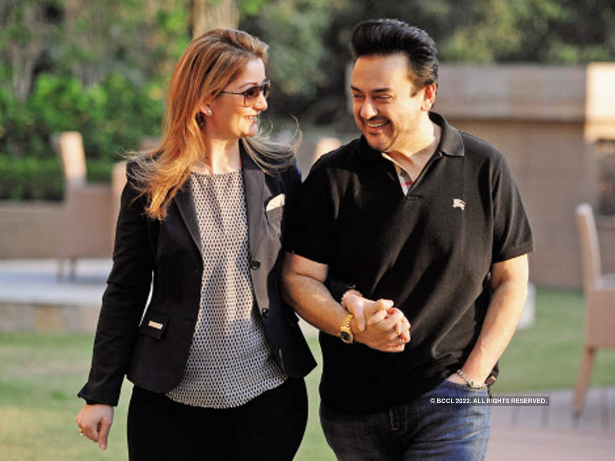 Adnan Sami pictured with his wife, Roya.
