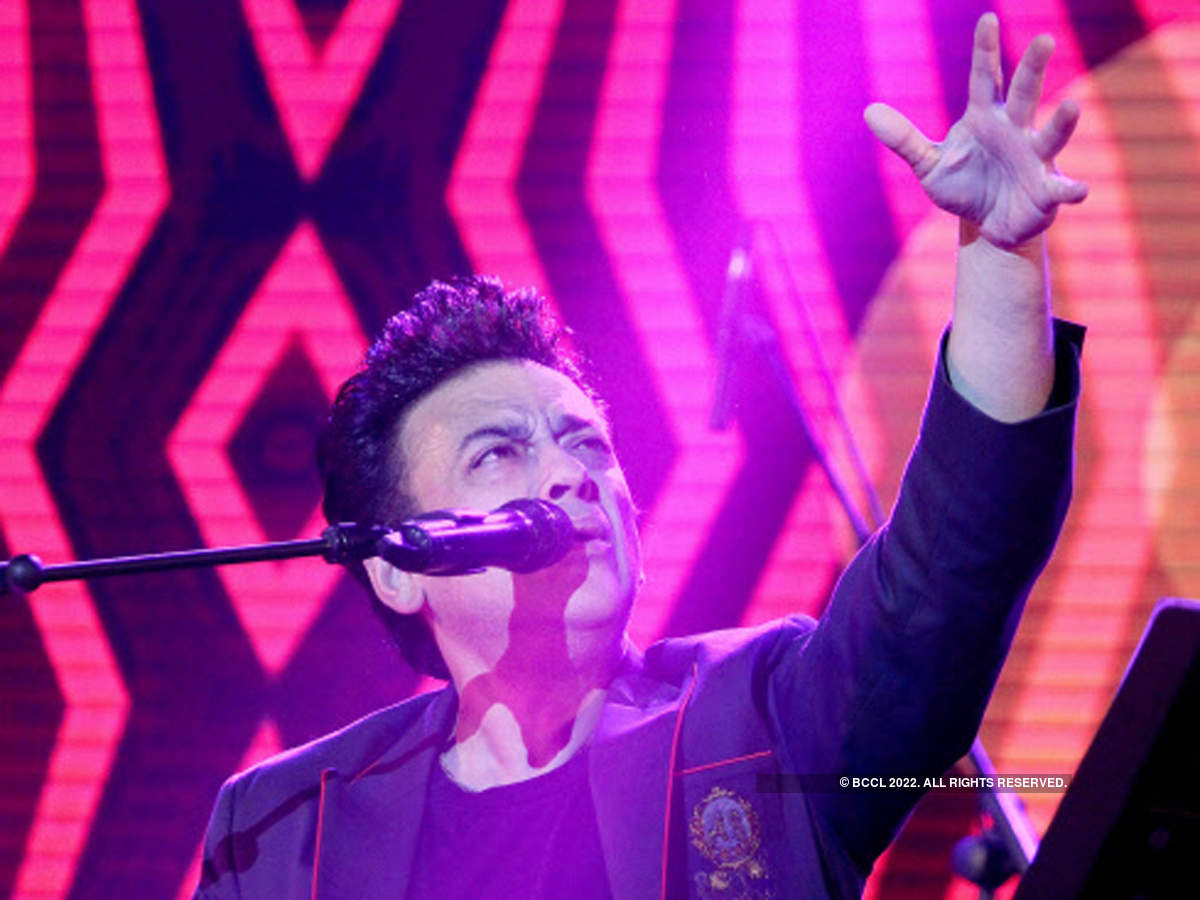 Adnan Sami performing one of his hit numbers.