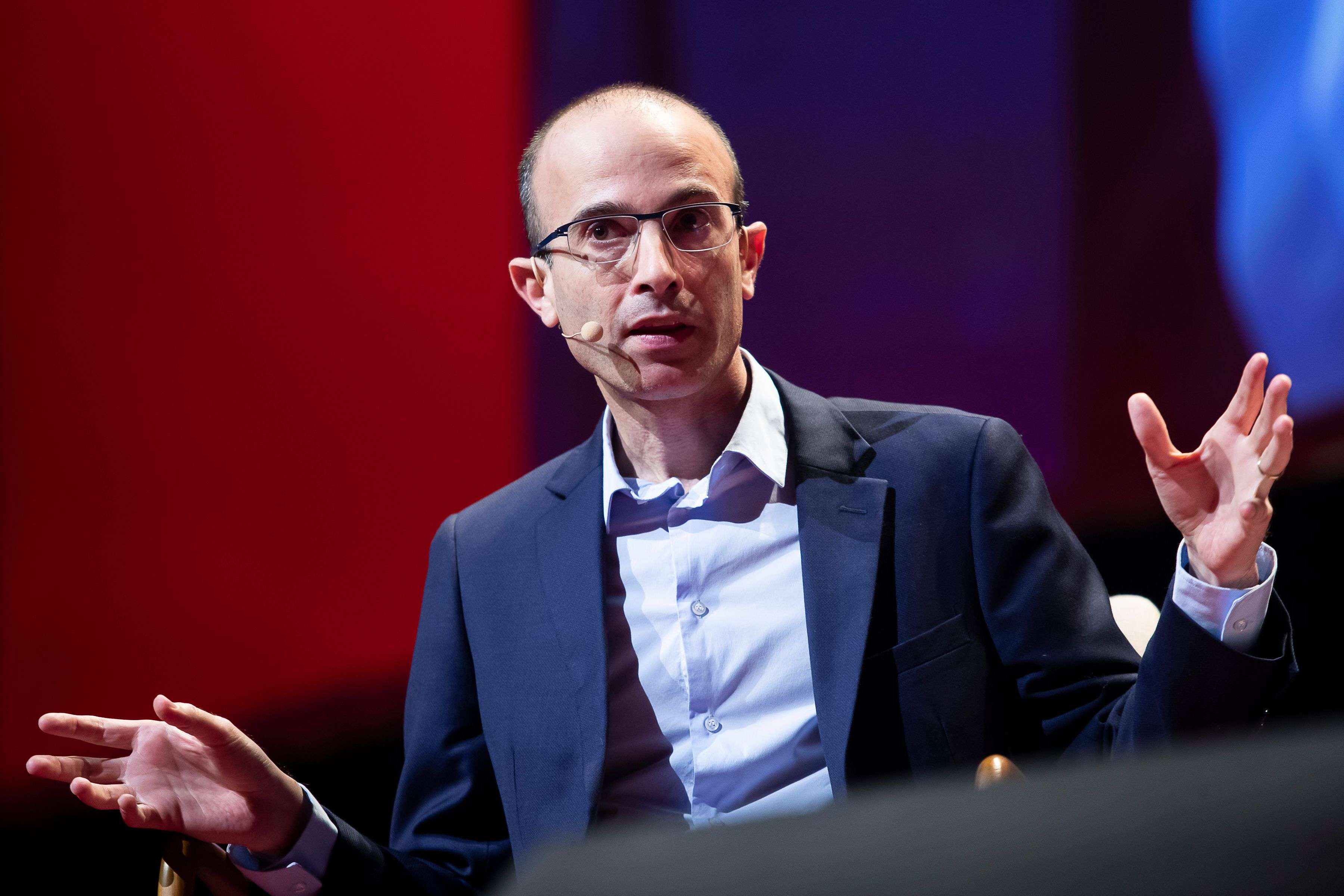 Israeli author Yuval Noah Harari addressed a session on 'How to survive the 21st century' at the World Economic Forum.