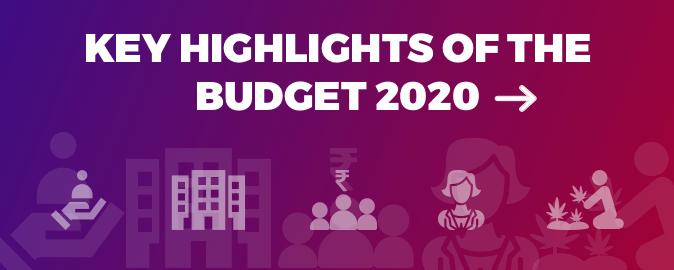 Key Highlights Budget 2020