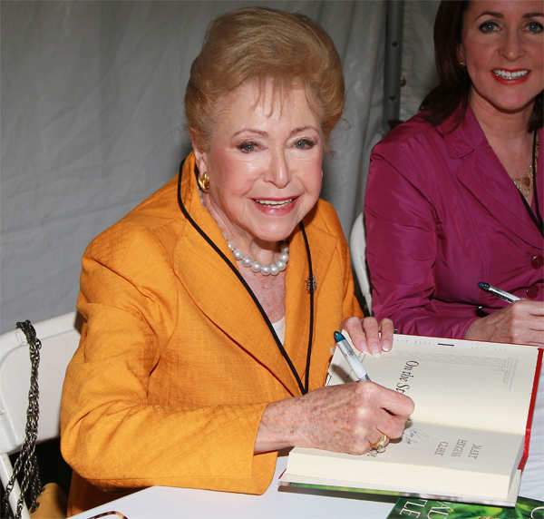 2011 File Photo: Mother-daughter duo Mary Higgins Clark (L) and Carol Higgins Clark at the 16th Annual Los Angeles Times Festival of Books.