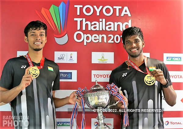 Chirag Shetty (L) and partner Satwiksairaj Rankireddy are in contention for a spot at the Tokyo Olympics.