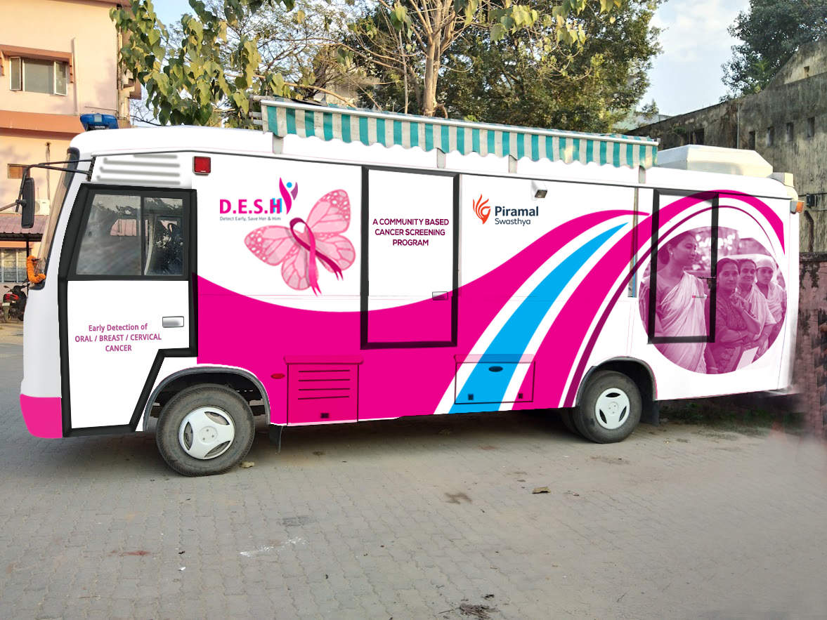 A mobile medical unit called 'The Pink Van' is placed in the rural district of Kamrup in Assam.