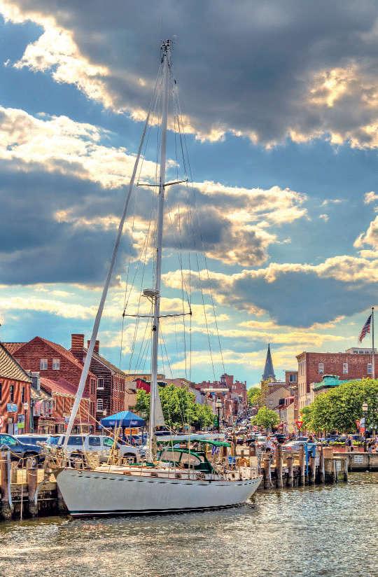 City Dock, Annapolis, Maryland.