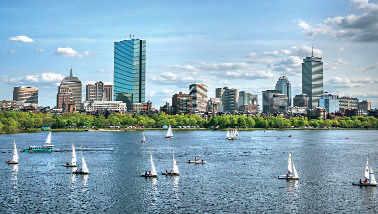 Boston Skyline,Massachusetts