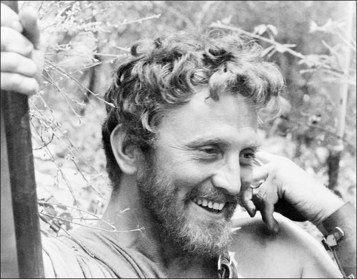 File picture taken in 1960 when actor Kirk Douglas played in Spartacus.
