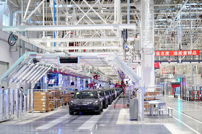 ​Tesla' Shanghai factory started production in October and began deliveries last month.​