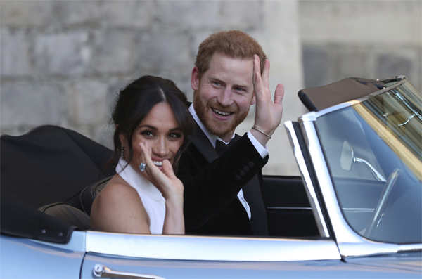 Harry and Meghan plunged the Windsors into crisis last month when they announced they wanted to cut back on official duties.