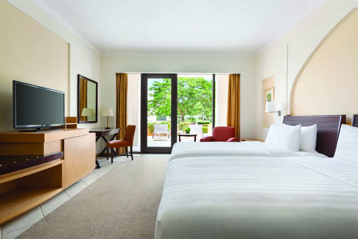 Every room in Shangri-La gets a gorgeous view. (In pic: Deluxe Twin Al Bandar)