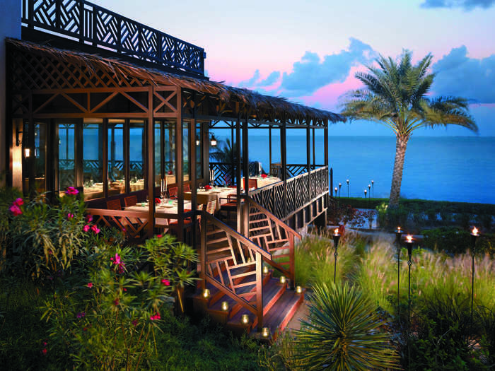 Overlooking the beach between Al Waha and Al Bandar, Bait al Bahr is an ideal restaurant to enjoy uninterrupted views of the Omani Gulf while sampling a range of fresh seafood dishes.