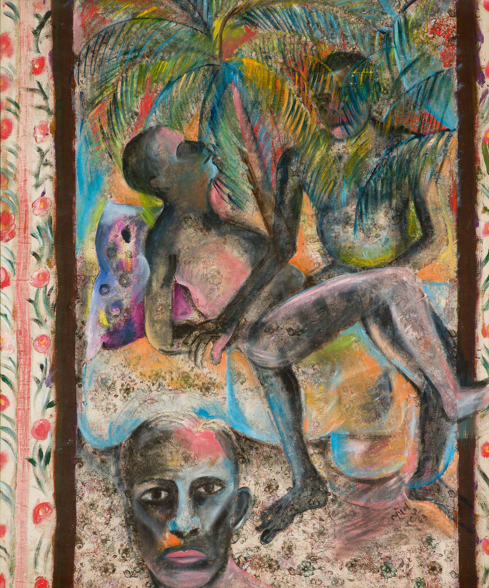 Bhupen Khakhar, In the Coconut Groves.