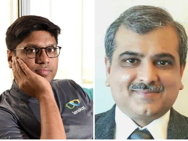 Peyush Bansal has been taking masterclasses from Manish Choksi (R) about industrial automation and processes. 
