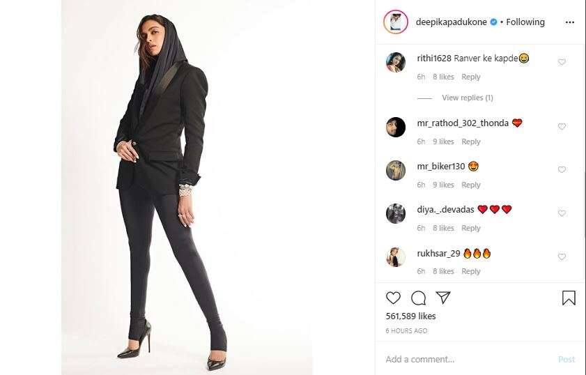 Instagram screengrab.