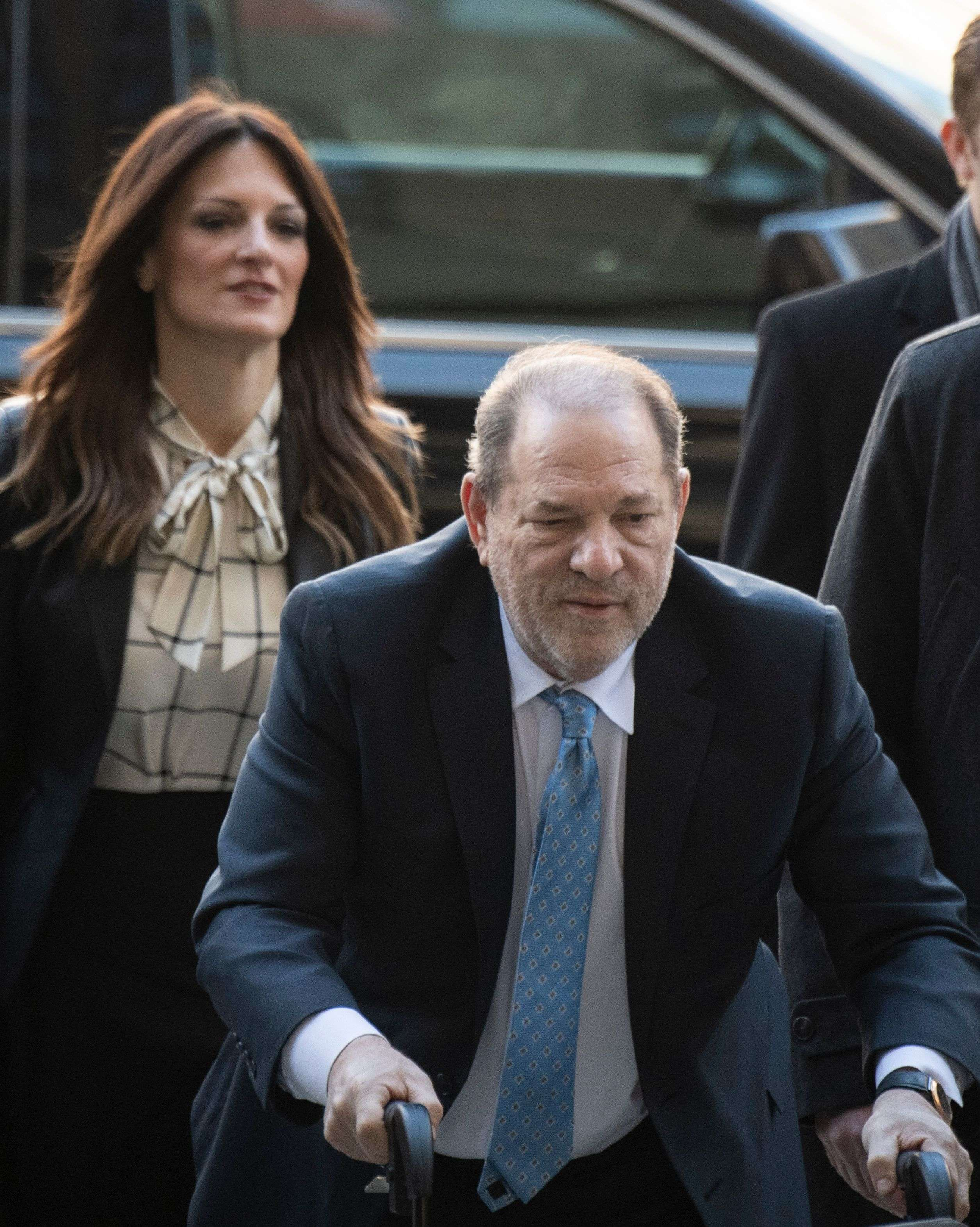 Harvey Weinstein arrives at the Manhattan Criminal Court.