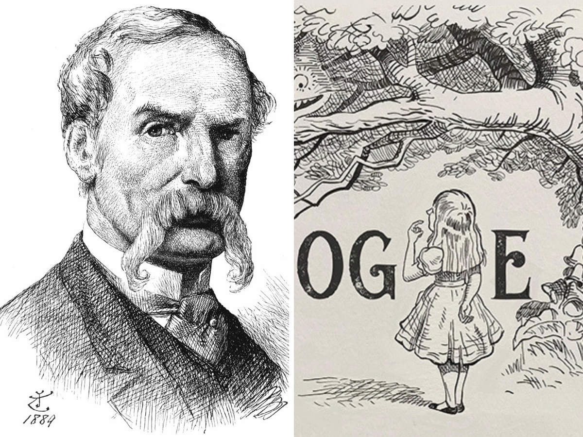 Doodle celebrating Sir John Tenniel.