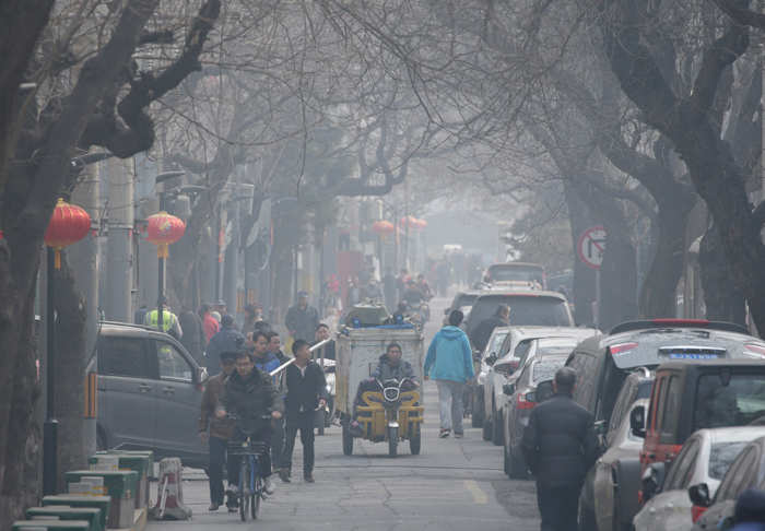 File photo of March 2, 2019: A traditional alleyway, or Hutong, on a polluted day in central Beijing.