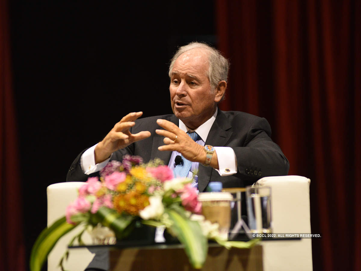 Stephen Schwarzman discussed family liffe at the recently concluded The Economic Times Global Business Summit.