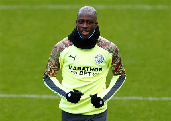 Manchester City said one unnamed member of their squad, reportedly France defender Benjamin Mendy, is in self-isolation after a family member suffered a respiratory illness.