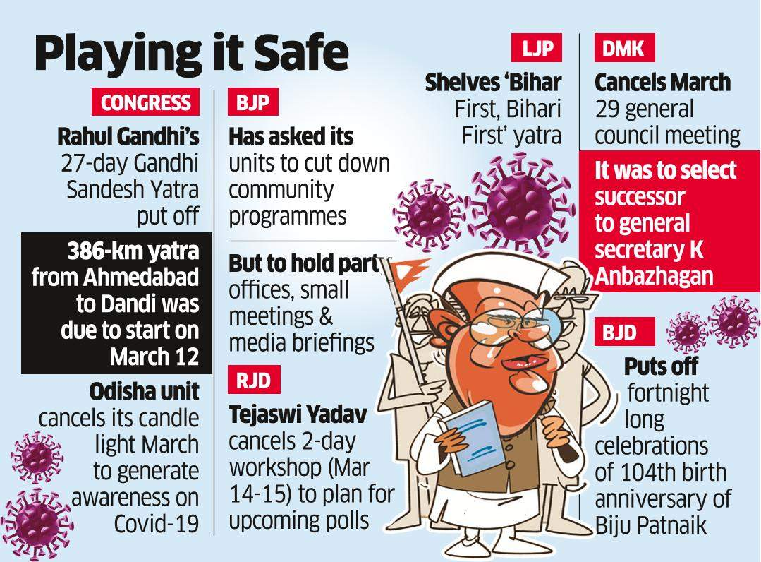 Cong Cancels Yatra, BJP to Curtail Public Events
