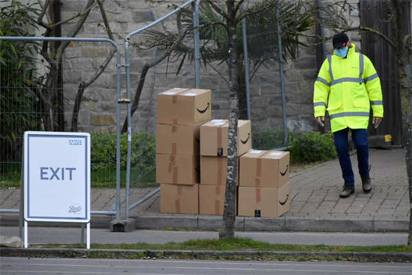 Amazon has largely resisted calls to shut down worksites and on Thursday announced it would make millions of masks available and check temperatures at all its U.S. and European warehouses.
