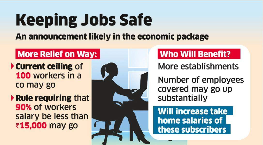 Govt may Take Up PF for Cos with 100+ Staff