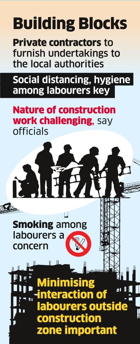 Pvt Contractors Told to Ensure Labour Hygiene