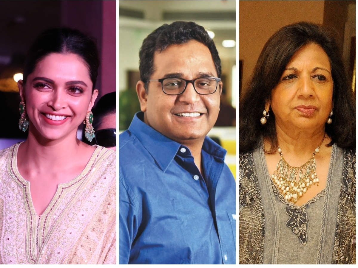 Deepika Padukone (L) has been cooking up Thai meals, including a vegetarian salad bowl, during quarantine. Paytm founder Vijay Shekhar Sharma (C) is a vegetarian and likes to mix foods to create his own dishes. Biocon executive chairperson Kiran Mazumdar Shaw (R) always includes fruit in her breakfast.