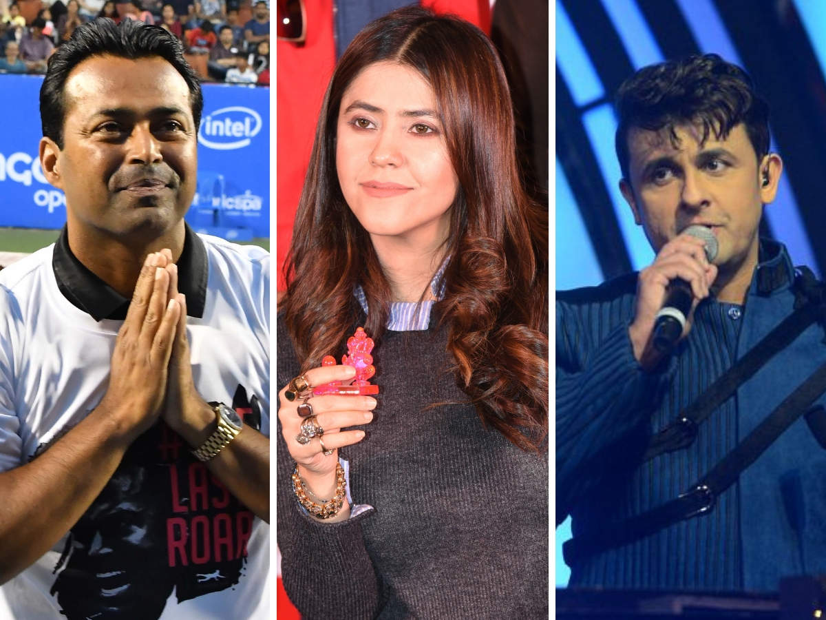 ​L to R: Leander Paes, Ekta Kapoor, Sonu Nigam​ are among the stars in the video.
