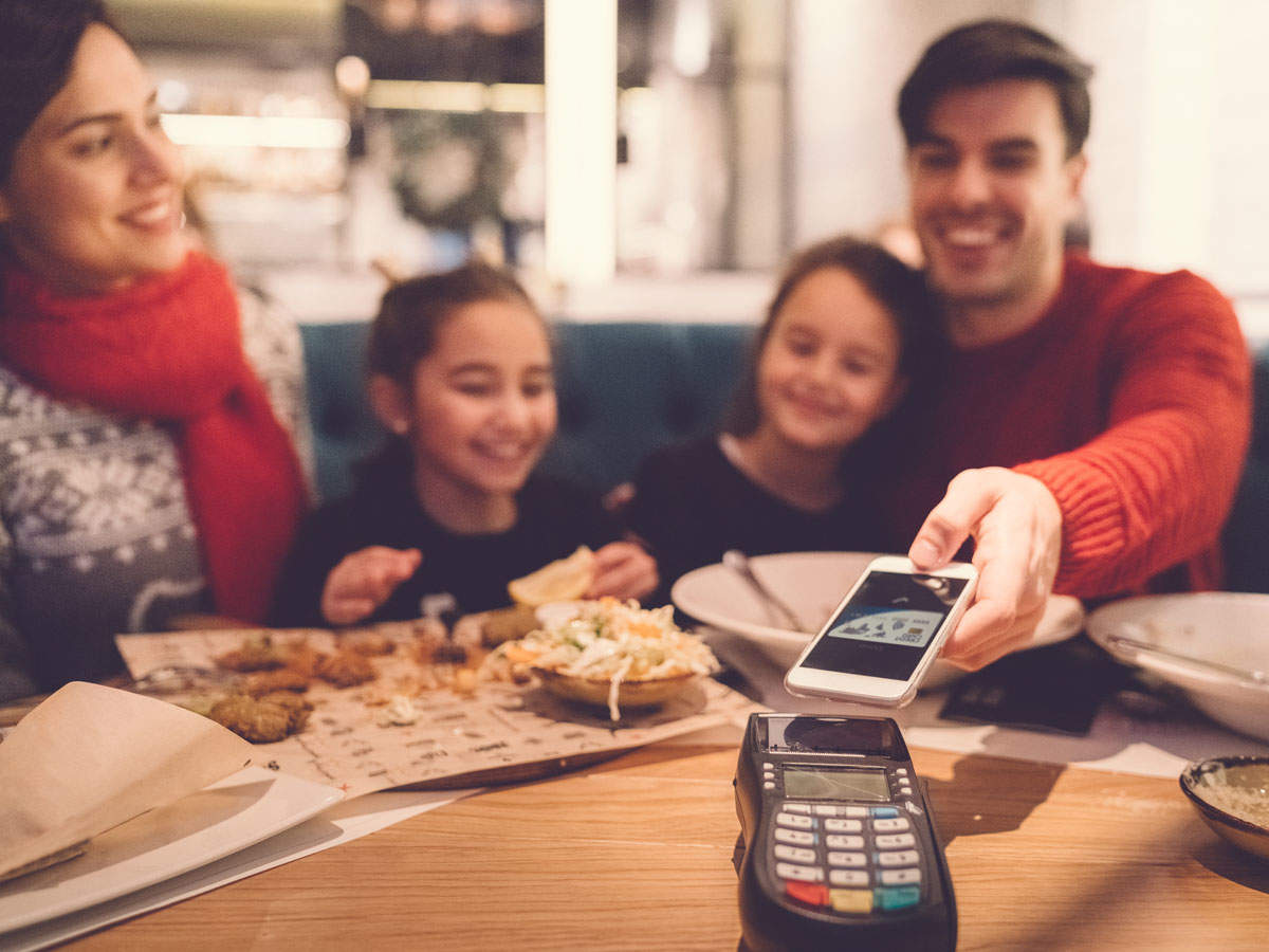 Customers can use their phones to see the menus, place an order and make payments. This will avoid contact with hard copies of menus, restaurant menu tablets and bill folders.