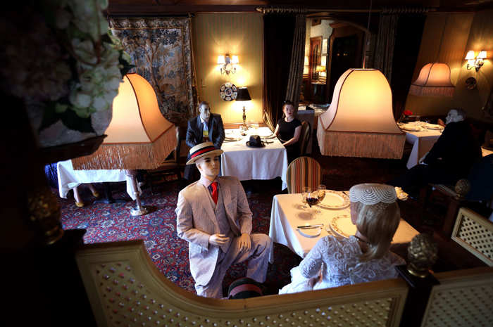 the inn: Michelin-star restaurant places mannequins dressed in ...
