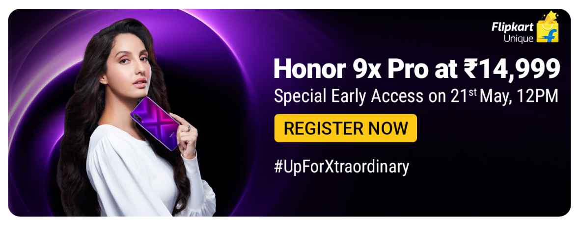 Users can register and avail the special access of Honor 9X Pro.