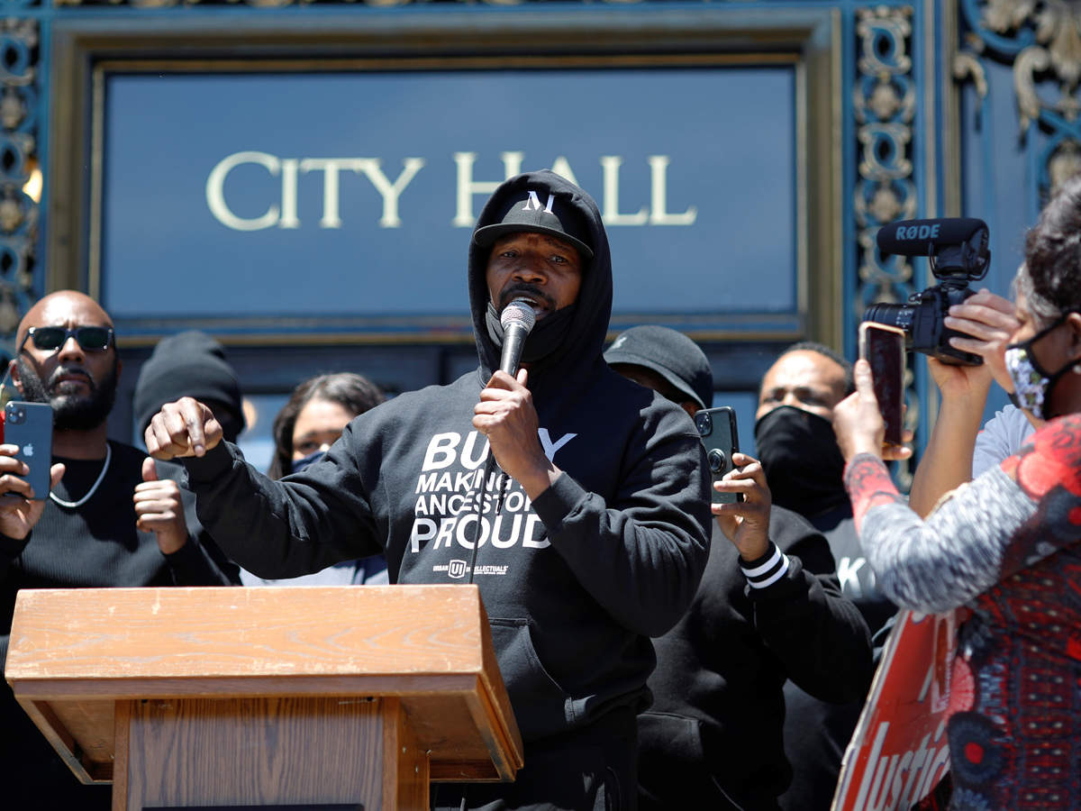 Foxx's comments came three days after he flew to Minneapolis to join the chorus of anger over the death of George Floyd.