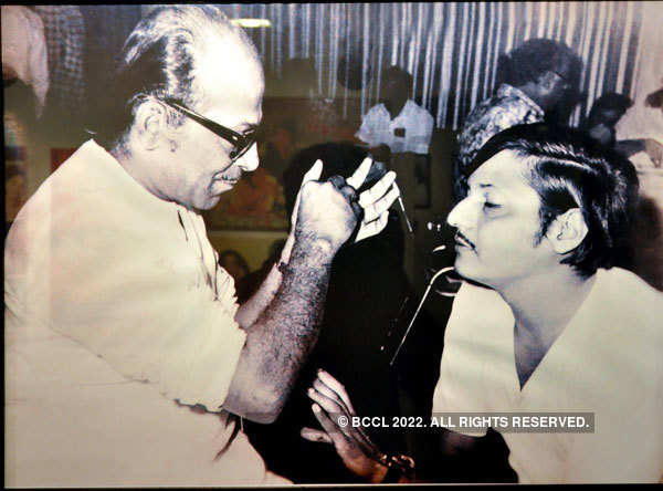 Chatterjee with actor Amol Palekar.