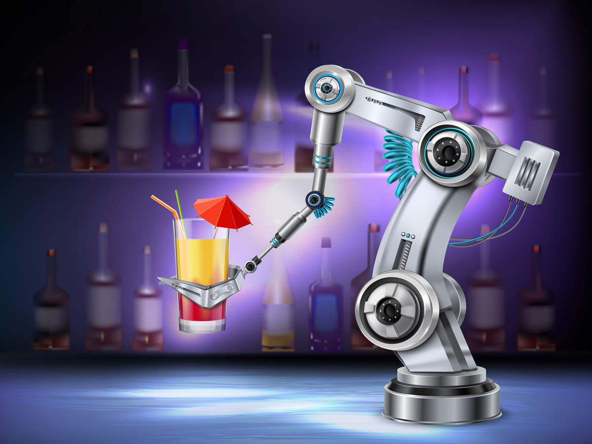 Robo-bartenders are shaking up South Korea's cafe and bar culture.
