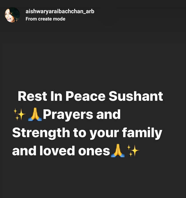 Aishwarya Rai-Bachchan's Instagram Story