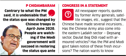 Cong to PM: Speak up on Fresh Chinese Aggression