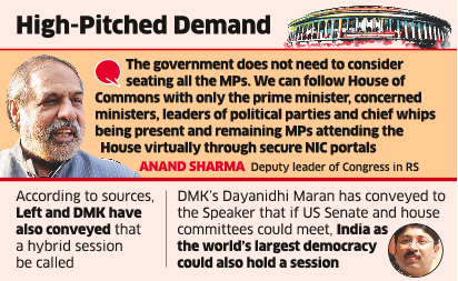 Citing UK, US Models, Oppn Seeks Monsoon Session of Parliament
